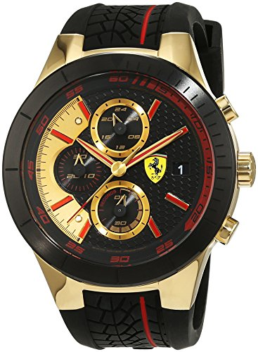 Scuderia Ferrari Orologi Red Rev Evo Chrono Analog Quarz Silikon 0830298
