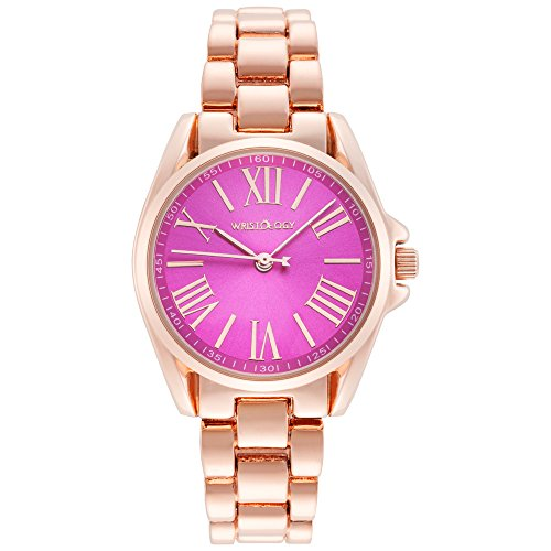 wristology Lilly Damen klein Rose Gold Pink Face Freund Metall Armbanduhr