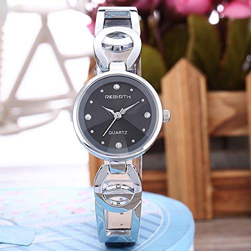 Damen Armbanduhr Kleid Edelstahl Damen Luxus Fashion Armband Uhren mit feinen Stahl