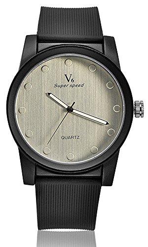 Fashion Armbanduhren Uhr Stecker V6 Marke Silikon Handgelenk MAN Uhren Quarz Band Armbanduhr Weiss