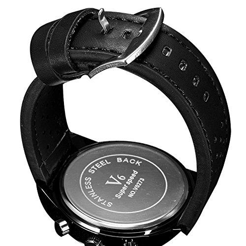 Fashion New Arrival stilvoller Luxus Marken Uhren V6 Einfache und elegante Armbanduhren Schokolade