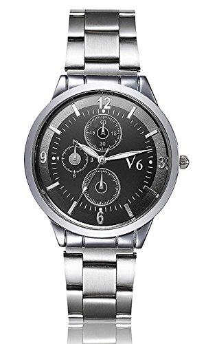 V6 LUXUS Marke Armbanduhr Fashion Frauen Leder Quarz Armbanduhr Damen Uhren Full Stahl Armbanduhr Schwarz