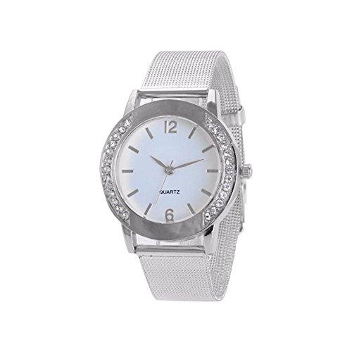 Armbanduhr WINWINTOM Frauen Crystal Golden Analog Edelstahl Uhr