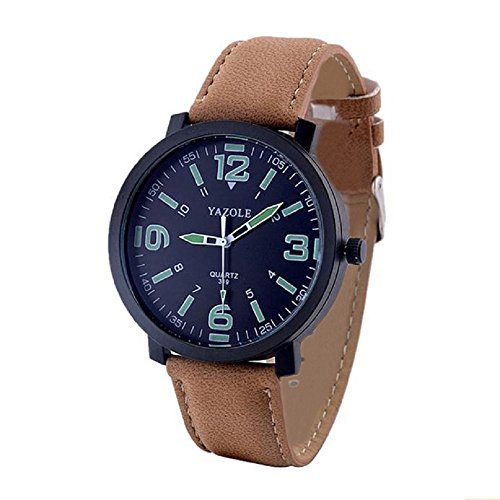 Armbanduhr WINWINTOM Mode Leder Quarz Armee Handgelenk LuxuxMens Military Watch