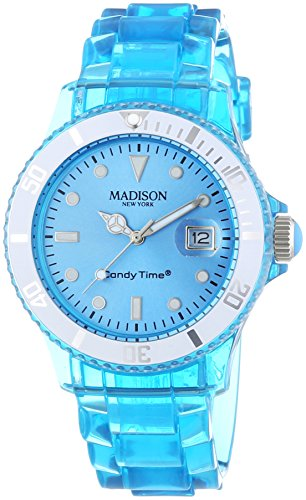 MADISON NEW YORK Unisex Armbanduhr Candy Time Jelly Mix Analog Quarz Plastik U4631 06 1