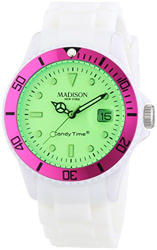MADISON NEW YORK Unisex Armbanduhr Candy Time Snow Festival Analog Quarz Silikon U4612 05 1