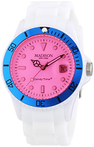 MADISON NEW YORK Unisex Armbanduhr Candy Time Snow Festival Analog Quarz Silikon U4612 06 1