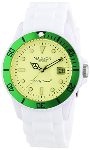 MADISON NEW YORK Unisex Armbanduhr Candy Time Snow Festival Analog Quarz Silikon U4612 10 1
