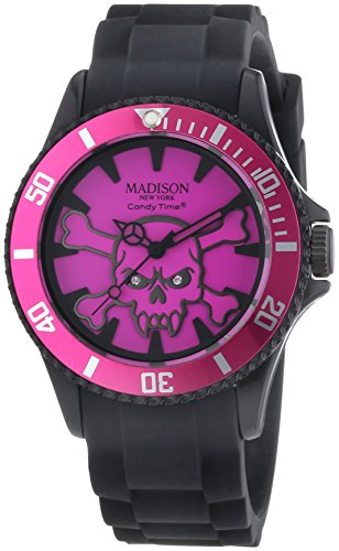 MADISON NEW YORK Unisex Armbanduhr Candy Time Stay Alive Analog Quarz Silikon U4618A 20