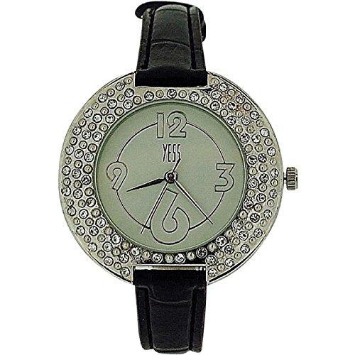 Yess elegante runde kristallbesetzte schmales Armband F48363