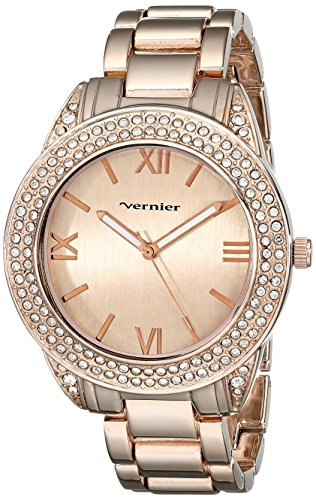Vernier Damen vnr11165rg Vernier Analog Display Japanisches Quartz Rose Gold Watch