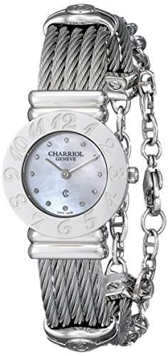 Charriol St-tropez Damen 24mm Saphirglas Uhr 028A540326