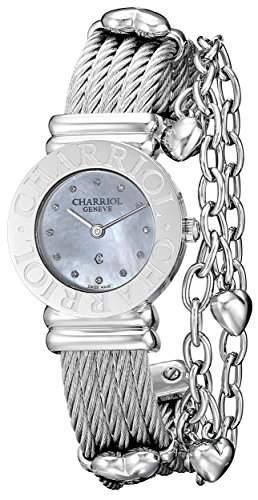 Charriol St-tropez Damen 24mm Saphirglas Uhr 028CC550326