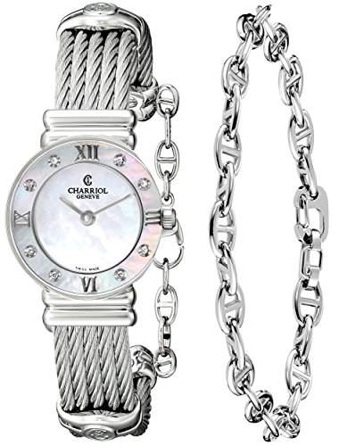 Charriol St-tropez Damen 24mm Saphirglas Uhr 028SD1540552