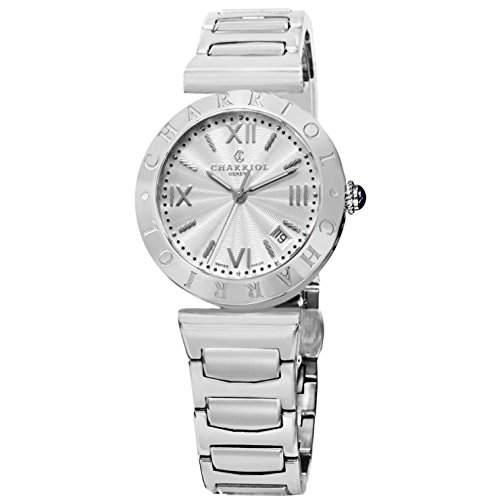 Charriol Alexandre Damen 34mm Silber Edelstahl Armband & Gehaeuse Uhr AMS920001