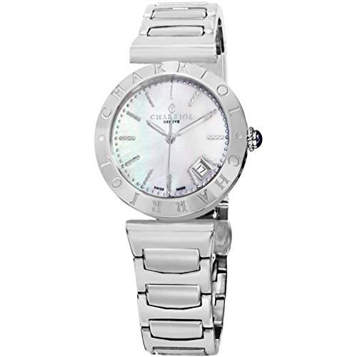 Charriol Alexandre Damen 34mm Silber Edelstahl Armband & Gehaeuse Uhr AMS920002
