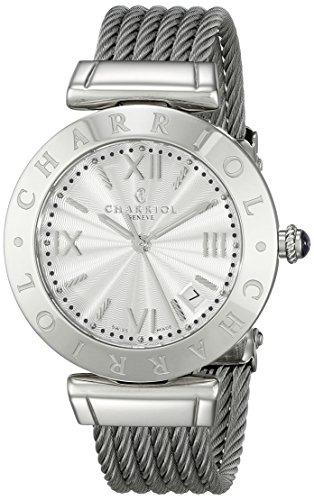 Charriol Alexandre Damen 34mm Silber delstahl Armband Gehaeuse Uhr AMS 51 001