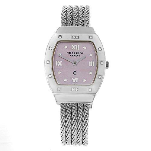 Charriol Azuro azurtd 540 913r Edelstahl Quarz Damen Armbanduhr
