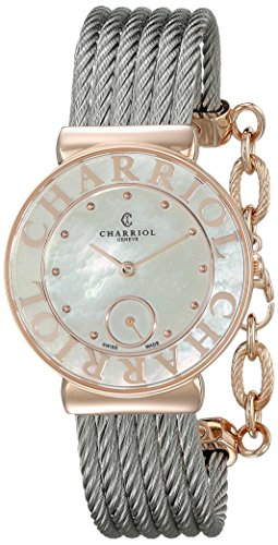 Charriol St tropez Damen 30mm Saphirglas Uhr ST30PC 560 020