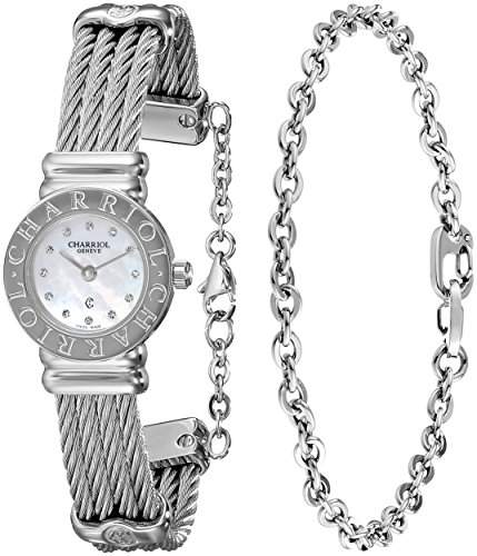 Charriol St-tropez Damen 21mm Saphirglas Uhr ST20CS520RO004
