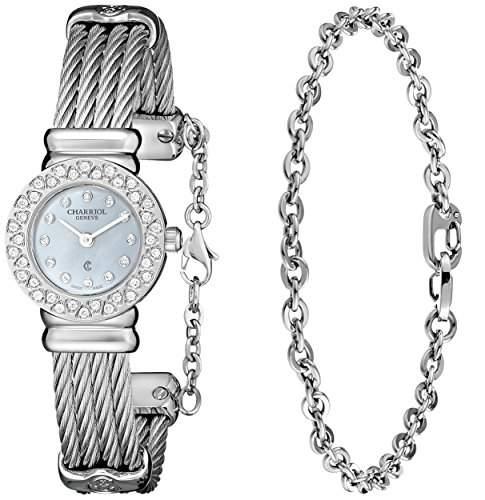Charriol Damen 20mm Silber Edelstahl Armband & Gehaeuse Uhr ST20SD520007