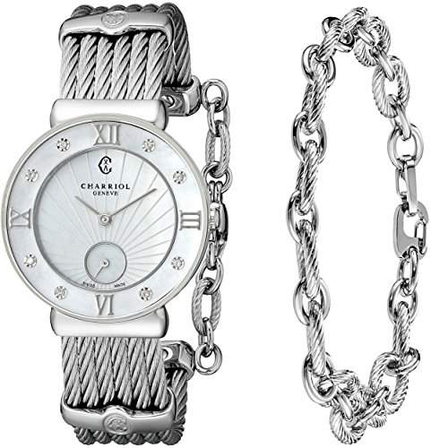 Charriol St-tropez Damen 30mm Saphirglas Uhr ST30SD560008