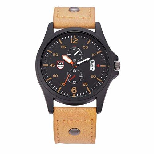 Xjp Elegantes Armband der Maenner mit analoger Anzeige Datum Anzeige schwarzer Edelstahl Kasten