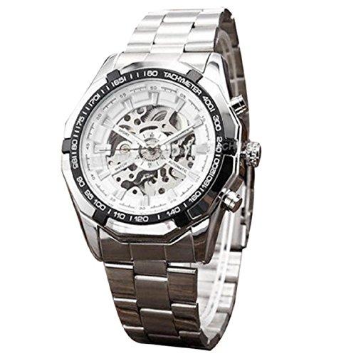 Armbanduhren fuer Maenner Xjp Automatische Mechanische Edelstahl Uhren Schwarz
