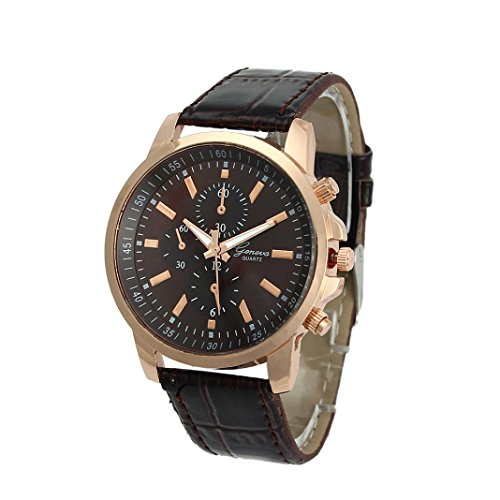 Unisex Armbanduhren Xjp Beilaeufige analoge Quarz Uhr mit Ledernem Buegel