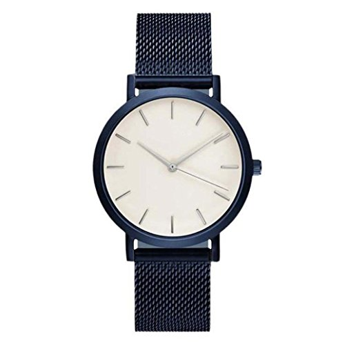 Armbanduhren fuer Damen Xjp beilaeufiges Edelstahl analoges Quarz Frauen Armband