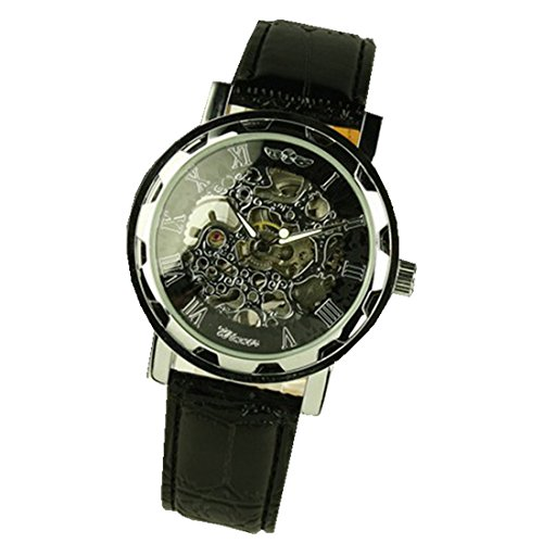 Xjp Classical Automatic Mechanical Stainless Steel Watches with Leather Band