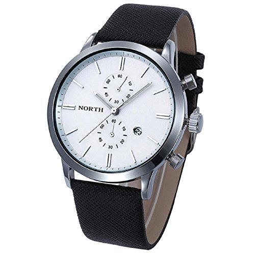 Armbanduhren fuer Maenner Xjp Leisure Waterproof Watch with 5 Needle Leather Strap Watches Gifts