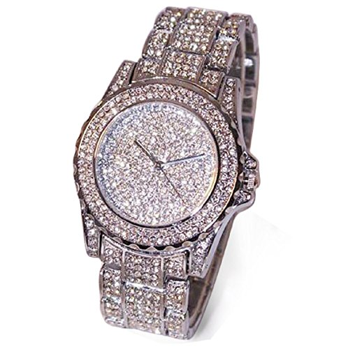 Armbanduhren fuer Frauen Xjp Rhinestone Ceramic Crystal Quartz Watches
