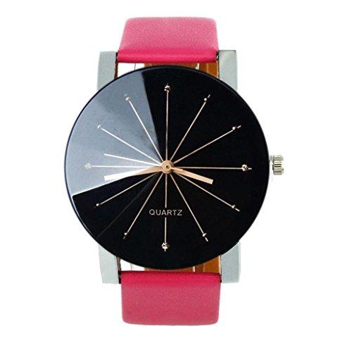 Beilaeufige Armbanduhren Xjp Konvexe Zifferblatt Quartz Analoge Casual Armbanduhr mit Lederarmband