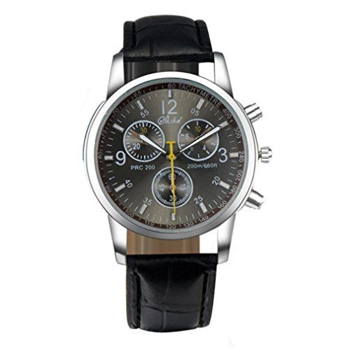 Mens Business Watches Xjp Fashion and Luxury Faux Leather Analog Wristatches