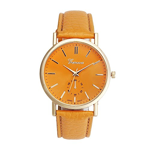 Casual Watche Xjp Unisex Watches Analog Quartz Leather Band Wristwatches