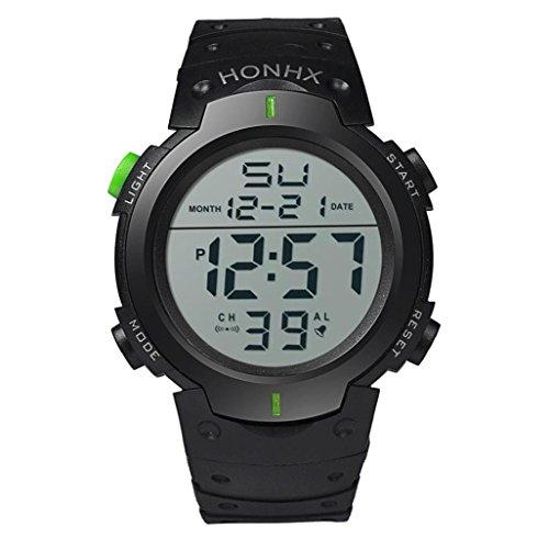 Digital Sports Watches Xjp Art und Weisewasserdichte Stoppuhr Armbanduhren fuer Maenner