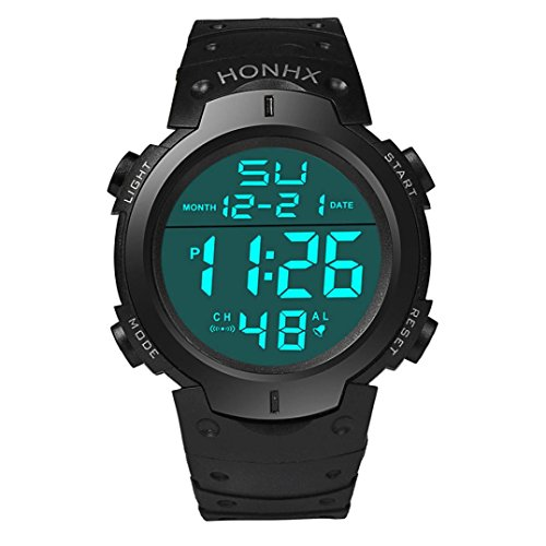 Digital Watches for Men Xjp Fashion Waterproof LCD Digital Stopwatch Sport Wristwatch
