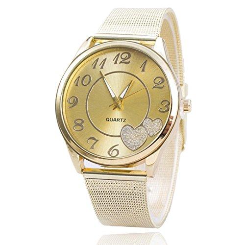 Frauen Armbanduhr Xjp Metallgitter analoge Quarzarmbanduhr Armband Silber