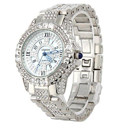 Frauen sagen Armbanduhr Xjp Rhinestone keramische Kristallquarz Uhren fuer Dame