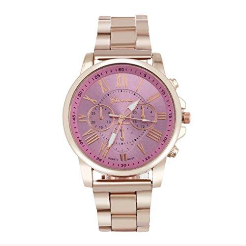 Frauen Armbanduhren Xjp Casual roemischen Ziffern Quarz Analoge Armbanduhren