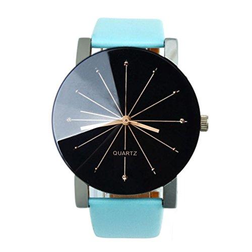 Uhren Geschenke Xjp konvexe Zifferblatt Quartz analoge Casual Armbanduhr mit Lederarmband