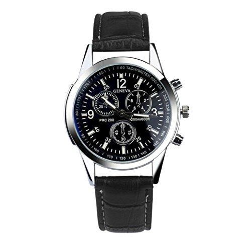 Xjp Casual und Mode Quarz mit Faux Leder Uhrenarmband
