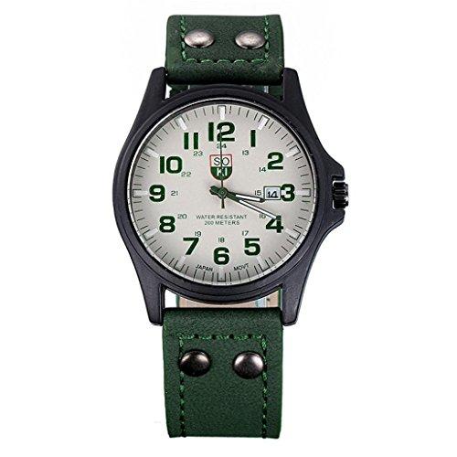 Uhren fuer Maenner Xjp Retro Quartz Analog Sports Wristwatch with Leather Strap