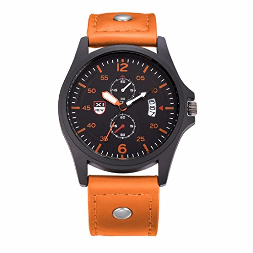 Mens Quartz Date Xjp Casual Calendar Analog Quarz Sports Wristwatch