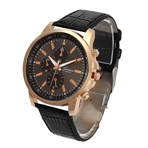 Unisex Wristwatches Xjp Casual Analog Quartz Watch with Leather Strap