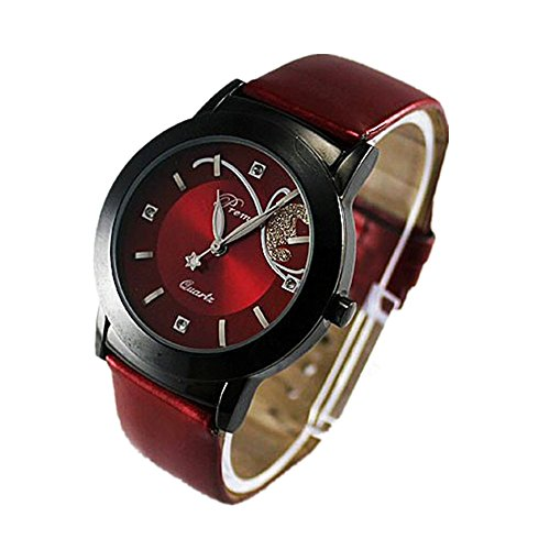 Womens Watches Bracelet Xjp Fashion and Casual Quartz Wristwatch Leather Strap for Girls