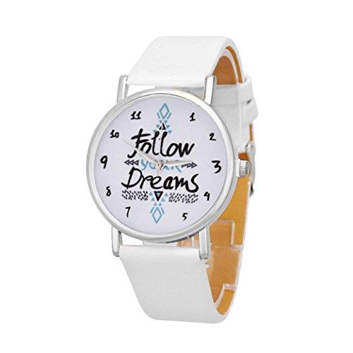 Womens Watches Bracelet Xjp Casual Simple Dial Alloy Quartz Wristwatches Leather Strap White