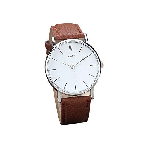 Womens Watches Bracelet Xjp Casual Alloy Quartz Wristwatches PU Leather Strap Brown