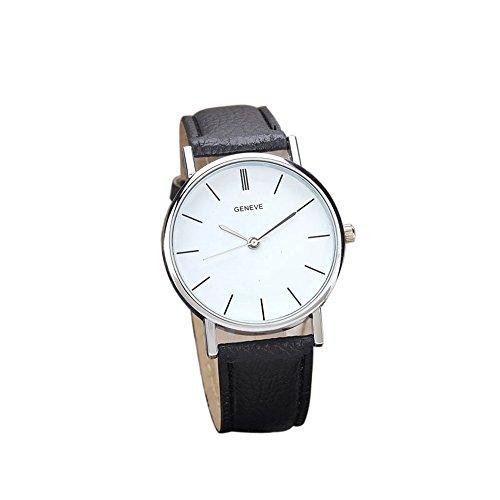 Womens Watches Bracelet Xjp Casual Alloy Quartz Wristwatches PU Leather Strap Black